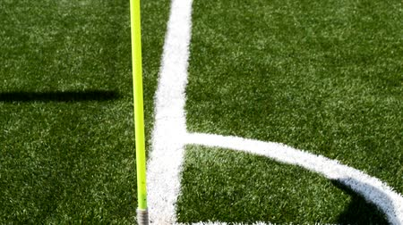 close up view of a corner in a football stadium