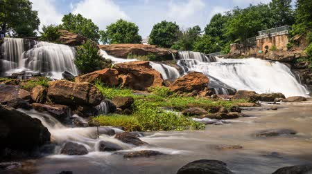 Falls Park Greenville, South Carolina time lapse video Wideo