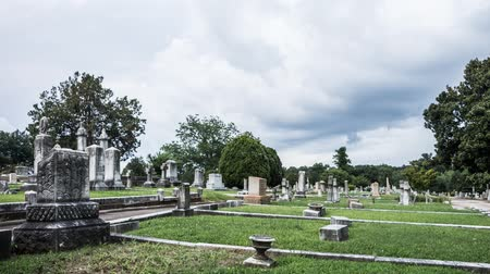 Old cemetery time lapse with dramatic clouds