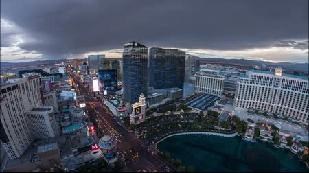 Las Vegas Strip at Twilght Time Lapse Video