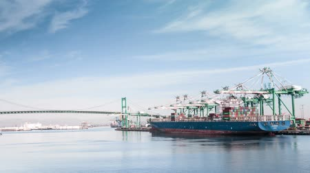 Port of Los Angles Time Lapse Video