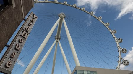 July 2014, Las Vegas, Nevada. The Linq High Roller Ferris Wheel time lapse video Wideo