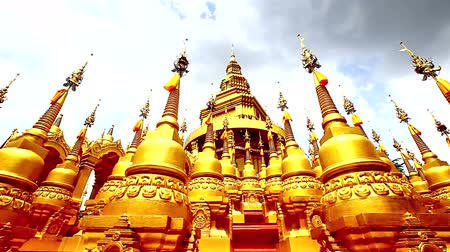 Будда : HD Panning : Pagoda in Wat-Sawangboon at Saraburi, Thailand, HD 1080P