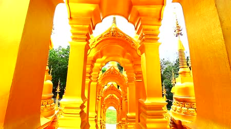Будда : Dolly: Pagoda in Wat-Sawangboon at Saraburi, Thailand, HD 1080P