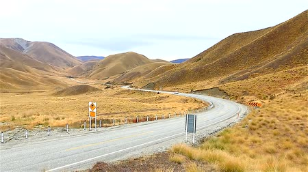 güney : HD: Road in Queenstown, New Zealand, South Island, 1920x1080 Stok Video