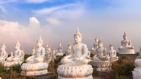 budha : 4K: Time lapse White of Buddha, Sakeaw Province, Thailand, High quality, Ultra HD, 3840x2160 Stock Footage