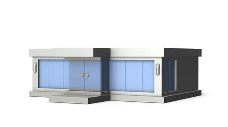 modelka : Simple Miniature of Clothing Store. Loop video. White background.