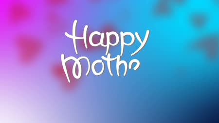 Animated Greeting Card for Mothers day with hearts Wideo