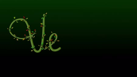 Animation of growing vine writing the word Vegan on dark green Background Wideo