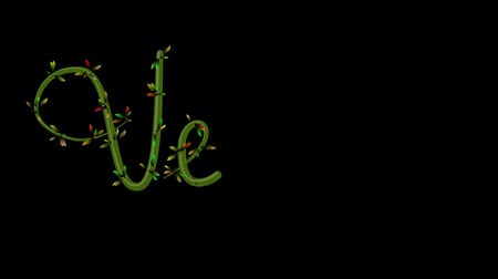 Animation of growing vine writing the word Vegan on Black Background