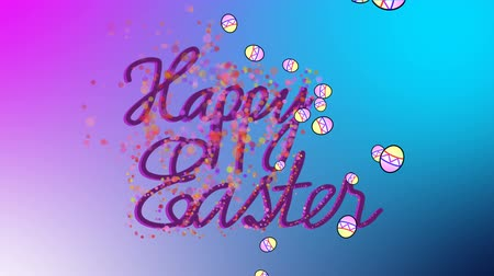 Animated Greeting card for Easter Holidays colorful background