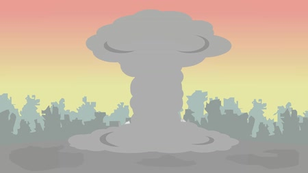 atomový : Nuclear strike in the city
