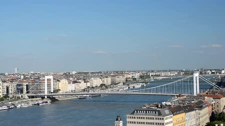 süspansiyon : Cityscape Of Budapest With Erzsebet Bridge and Danube River. Hungary