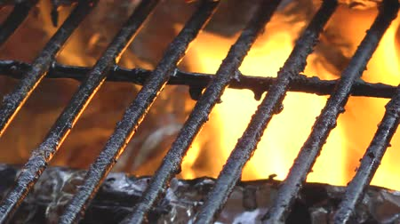 grelha : bbq grill hot with fire