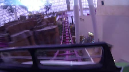 rolete : person from extreme park in the first seat in very fast amusement Roller Coaster