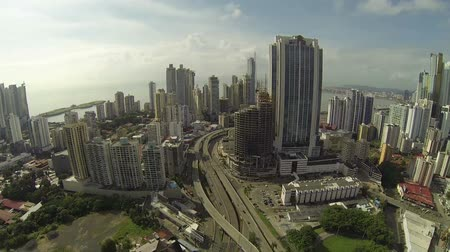 bola : Panama City, Panama - NOV 4: Stunning view of the skyrise buildings in the main city of Panama called the cinta costera in Panama City, Panama on Nov 5, 2014.
