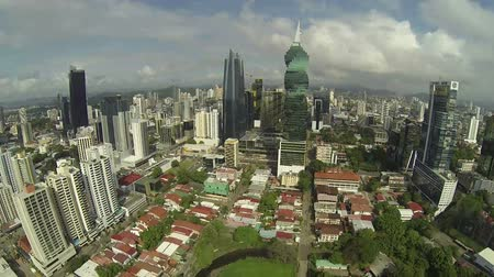 bola : PANAMA CITY - NOV 5: Stock video footage of Downtown Panama taken on NOV 5, 2014 in Panama City, Panama. Downtown Panama is a financial, and commercial center with origins in the 1900s. Vídeos