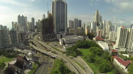 bola : PANAMA CITY - NOV 5: Stunning view of Panama City in the daytime in Panama on Nov 5, 2014. Is main commercial area in all the country where are the main banks and government offices.
