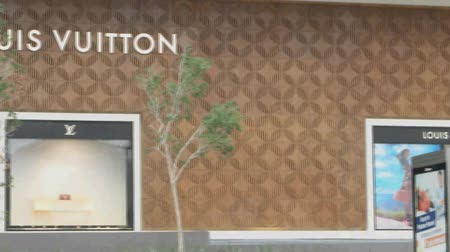 six worlds : PANAMA  MAY 1: Louis Vuitton store on May 1st 2015 in Panama. For six consecutive years 2006  2012 Louis Vuitton was named the worlds most valuable luxury brand. Stock Footage