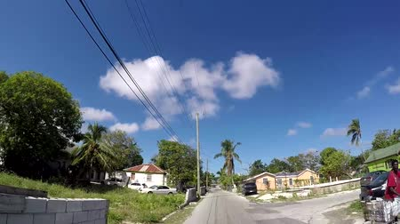 ghetto streets : Nassau, Bahamas FEB 6: Ghetto neighborhood in Nassau, Bahamas on Feb 6, 2017. Nassau is a very secure island. Stock Footage