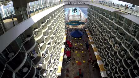 vaha : ORLANDO, FLORIDA - FEB. 5: The Oasis of the Seas, one of Royal Caribbean Cruise thats has been considered one of the most large cruises in the world on Feb.5, 2017 in Orlando, Florida.