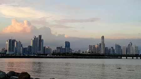 Scenic City skyline in Panama City, Panama, Central America in the sunset.