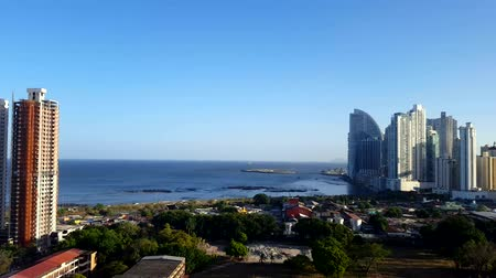 bola : Stunning view of Panama City skyline with the pacific ocean view.