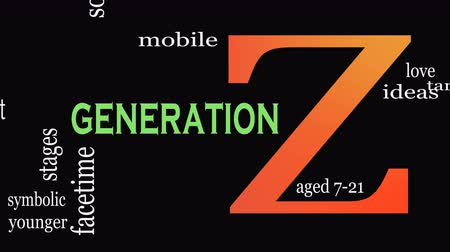 kifinomult : Generation Z in word collage. Marketing and targeting concept