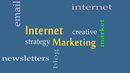 vantagem : Internet Marketing word cloud concept on grey background