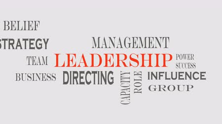 Leadership word cloud, business concept Vídeos
