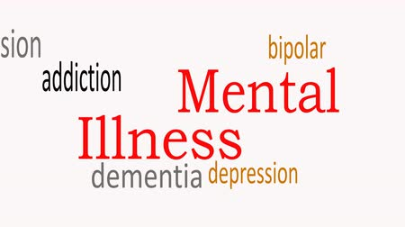 мозговая атака : Mental Illness, word cloud concept on white background.