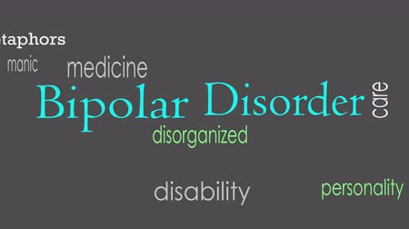 dividing : Bipolar disorder word cloud concept Stock Footage