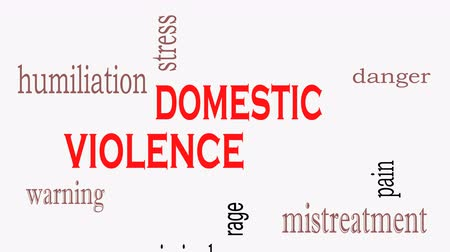 Domestic Violence and Abuse concept word cloud background