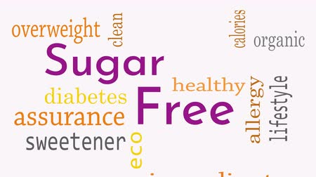 szlogen : Sugar free message background. Healthy food concept - Illustration