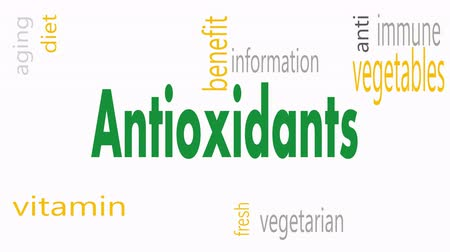 антиоксидант : Antioxidants word cloud concept - Illustration