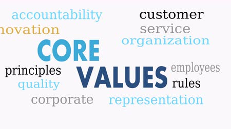 příklad : Core values word cloud, business concept - Illustration