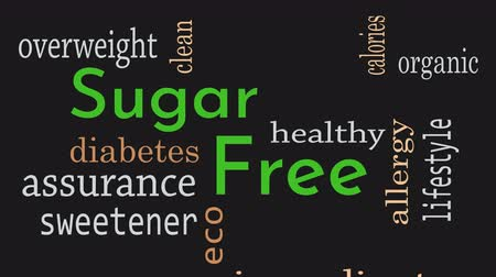 adoçante : Sugar free message background. Healthy food concept - Illustration