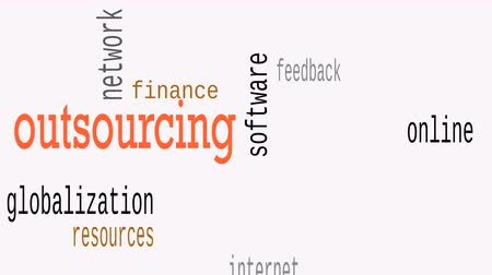 provision : Outsourcing Word Cloud, Geschäftskonzept. Illustration