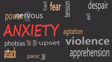 preocupar se : Anxiety concept word cloud on a black background