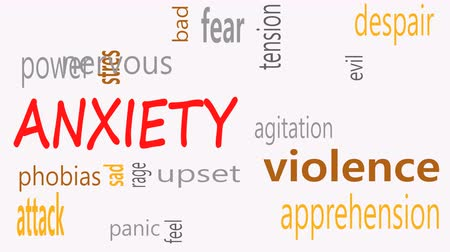 apprehensive : Anxiety concept word cloud on a white background