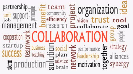 işbirliği yapmak : Collaboration concept in word cloud isolated on white background - Illustration