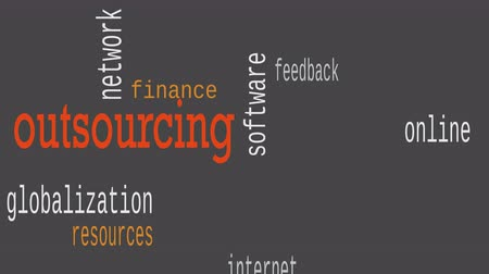 оценка : Outsourcing word cloud, business concept. Illustration