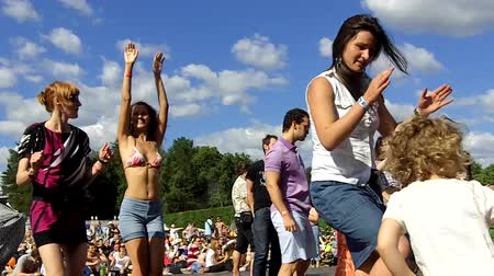 rock music : Crowd of fans at open-air festival