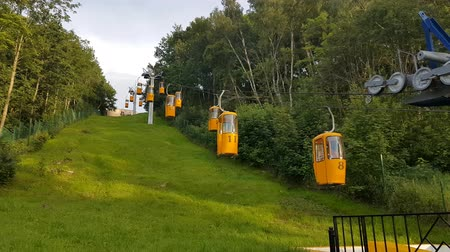 morze bałtyckie : Svetlogorsk, Russia - July 25, 2017: People ride the cable car at day time Wideo