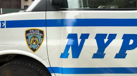 patrol : New York, USA - September 6, 2018: Patrol car of New York police on the streets of Manhattan