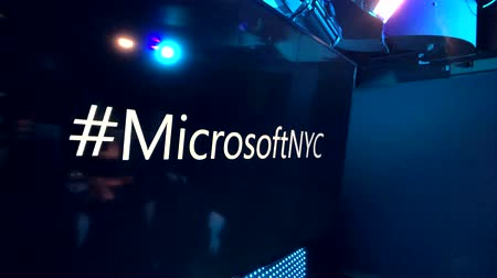 hashtag : New York, USA - September 6, 2018: Microsoftnyc hashtag on a screen