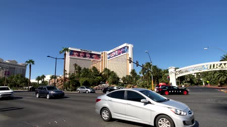 caesars : Las Vegas, USA - September 10, 2018: Tourists visiting the sights at sunny day time