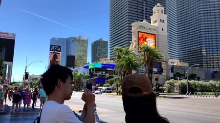 bellagio : Las Vegas, USA - September 10, 2018: Tourists visiting the sights at sunny day time