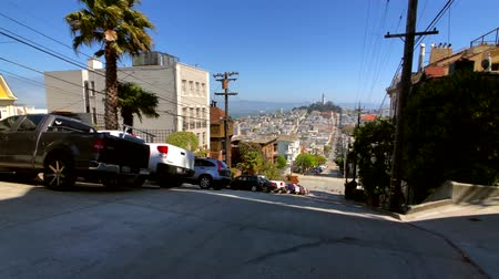 victorian : San Francisco, USA - September 10, 2018: Cityscape at sunny day time