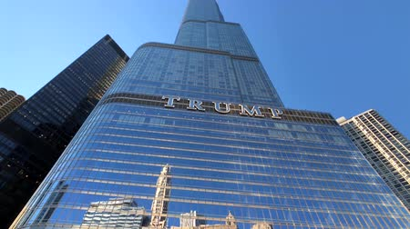 alanlar : Chicago, USA - September 10, 2018: Downtown landmarks at sunny day time, Trump tower